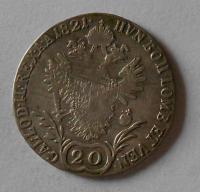 Rakousko 20 Krejcar 1821 E František II.