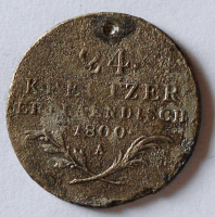 Rakousko 24 Krejcar 1800 A František II. Důlek