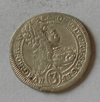 Rakousko 3 Krejcar 1717 Karel VI.
