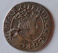 Rakousko Groš 1550 Ferdinand I. dírka