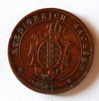 Sasko 5 Pfenig 1869