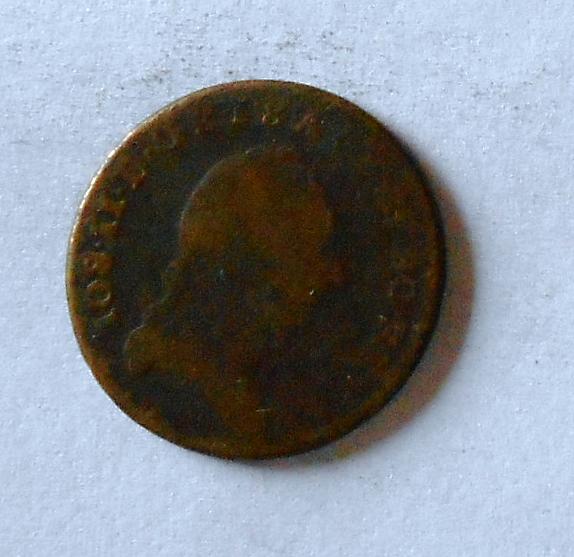 Uhry 1/2 Krejcar 1781 S Josef II.