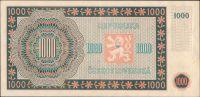 1000Kčs/16.5.1945/, stav 1, série 10 E nebo 14 E