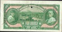 100Kč/1920/, stav 2+ perf. SPECIMEN, NEPLATNÉ a otvor 4,5mm, série Al, bankovní vzor!