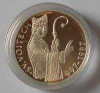 200 Kč(1997-sv. Vojtěch), stav PROOF, etue a certifikát