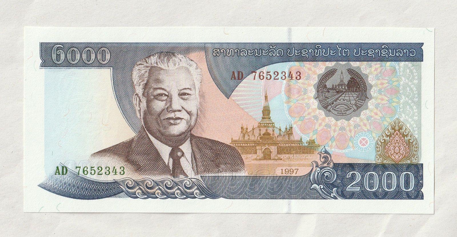 2000 Kip, 1997, Laos
