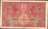 20Kč/1919/, stav 4+, série U 127