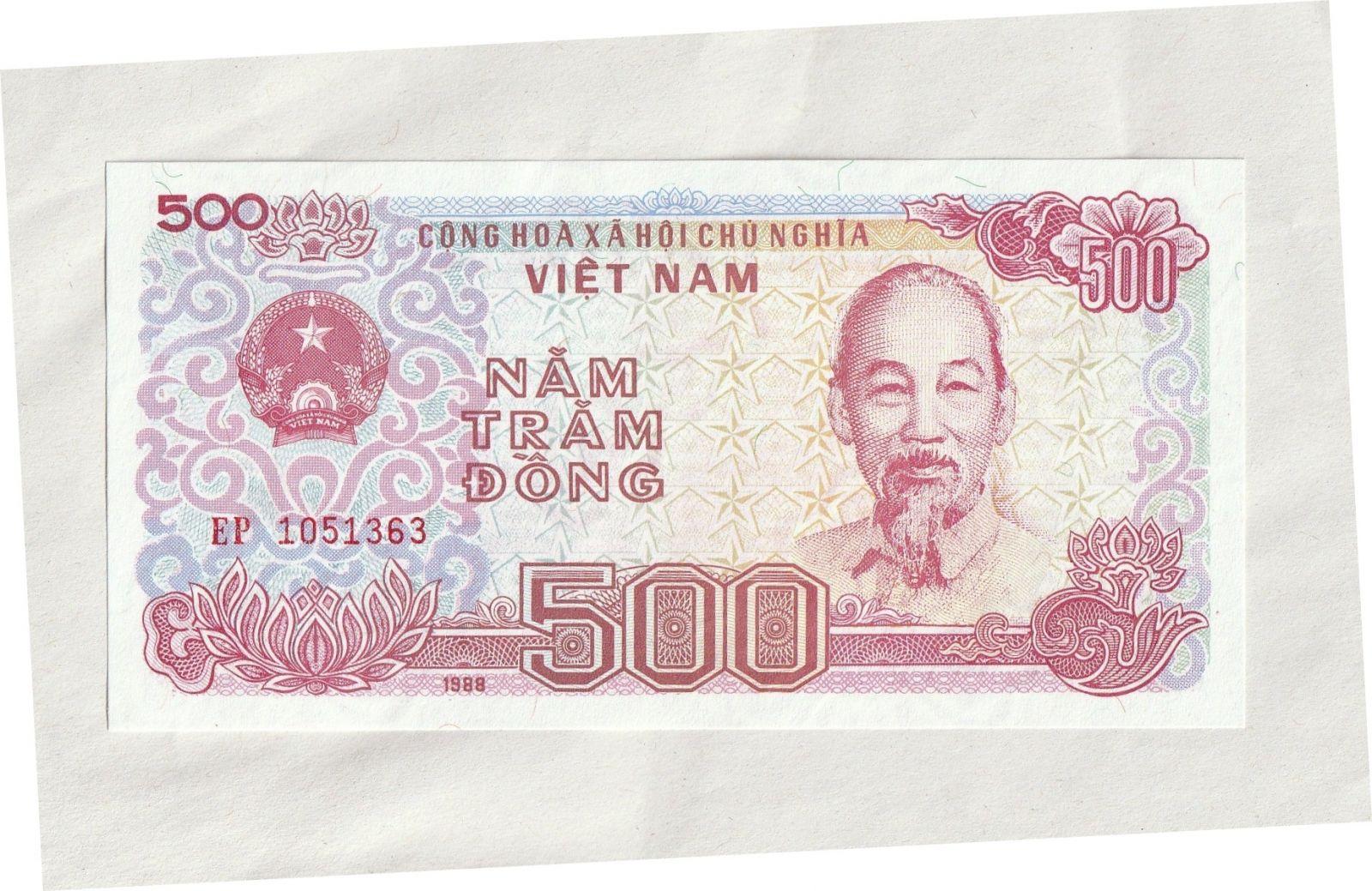 500 Dong, 1988, Vietnam