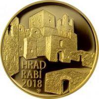 5000 Kč(2018-hrad Rabí), stav PROOF, etue a certifikát