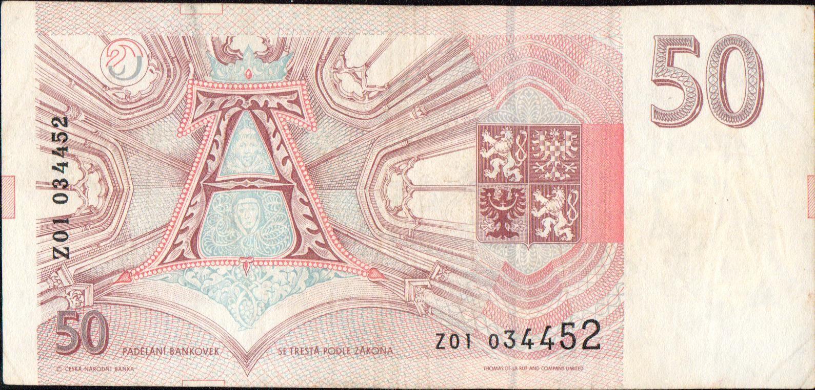 50Kč/1993/, stav 2, série Z