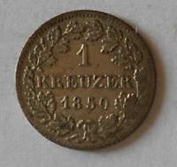 Bavorsko 1 Krejcar 1850