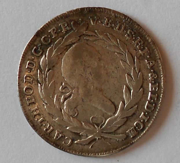 Bavorsko 20 Krejcar 1784 Karel Theodor