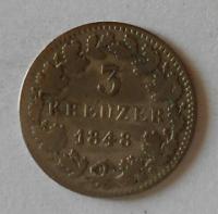 Bavorsko 3 Krejcar 1848