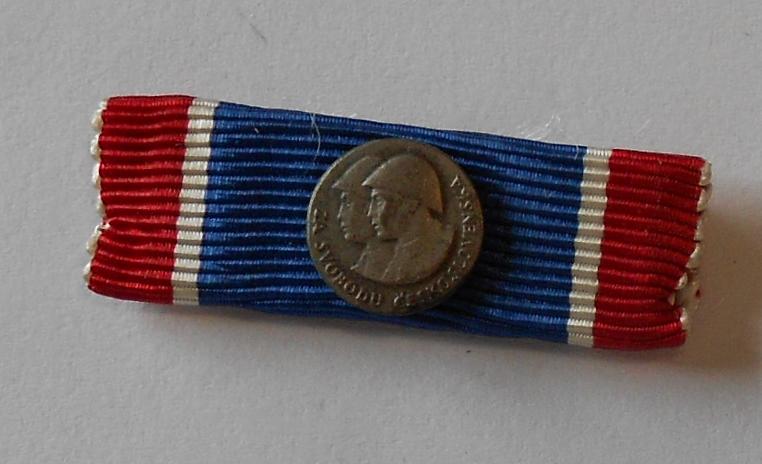 ČSR Za svobodu, miniatura na stužce