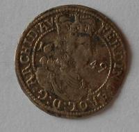 Tyrol 3 Krejcar 1649 Arcivévoda Ferdinand Karel