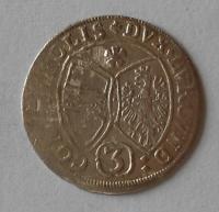 Tyrol 3 Krejcar 1661 Arcivévoda Ferdinand Karel
