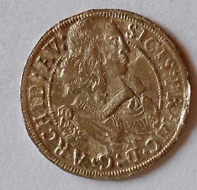 Tyrol 3 Krejcar 1663 Arcivévoda Sigmund stav