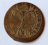 Tyrol 3 Krejcar 1664 Arcivévoda Sigmund stav