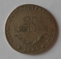 Tyrol povstání 20 Krejcar 1809 Andreas Hoffer