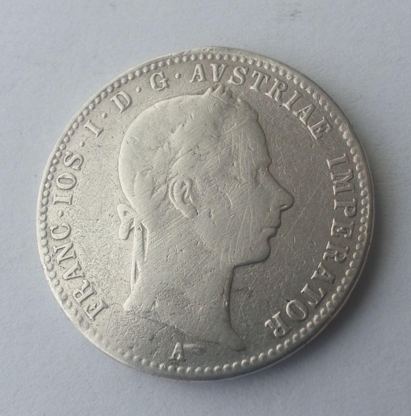 1/4 Fl.,1857, A, Rakousko