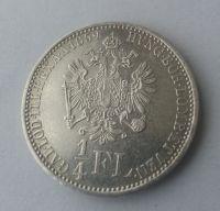 1/4 Fl.,1859, A, Rakousko