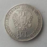 1/4 Fl., 1862 A, Rakousko, STAV!