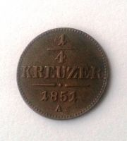 1/4 Krejcar, 1851, A, Rakousko