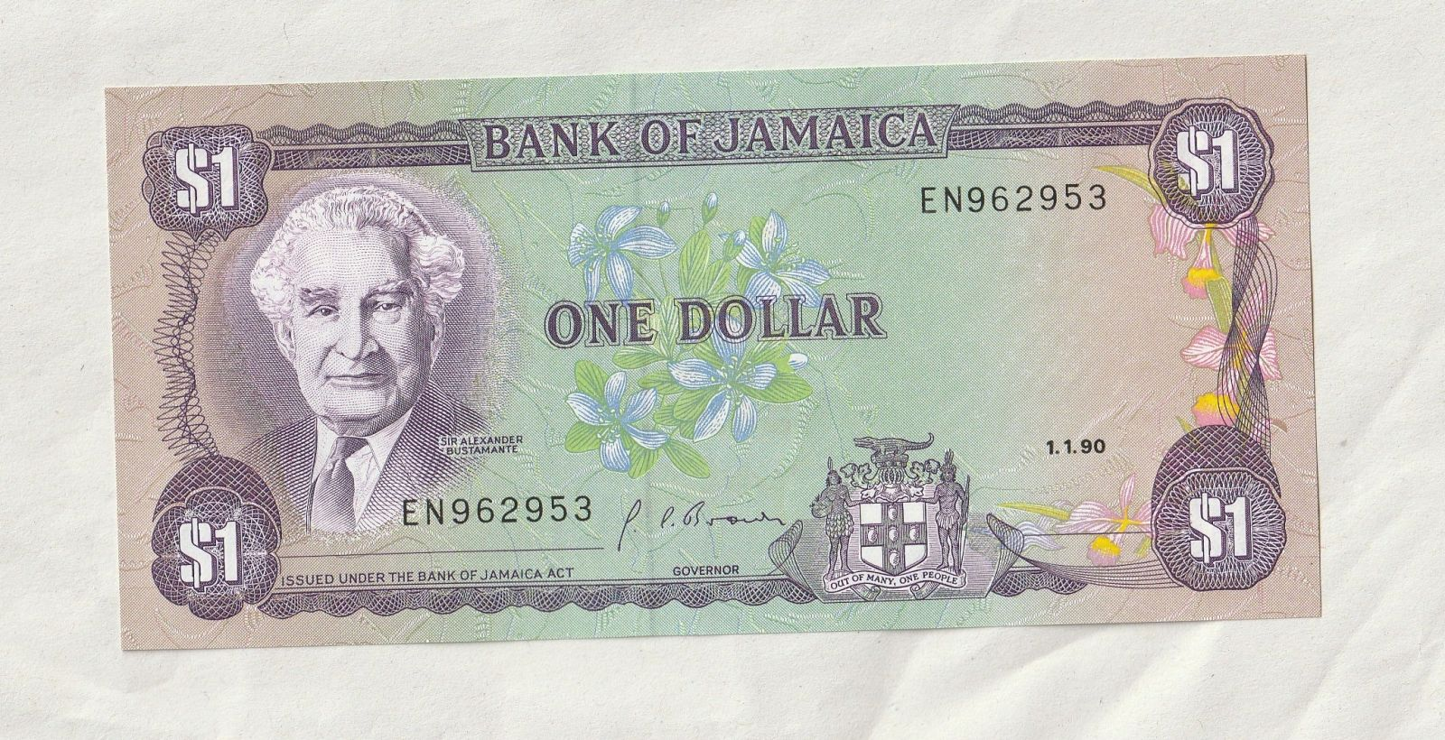 1 Dollar, 1990,Jamaica