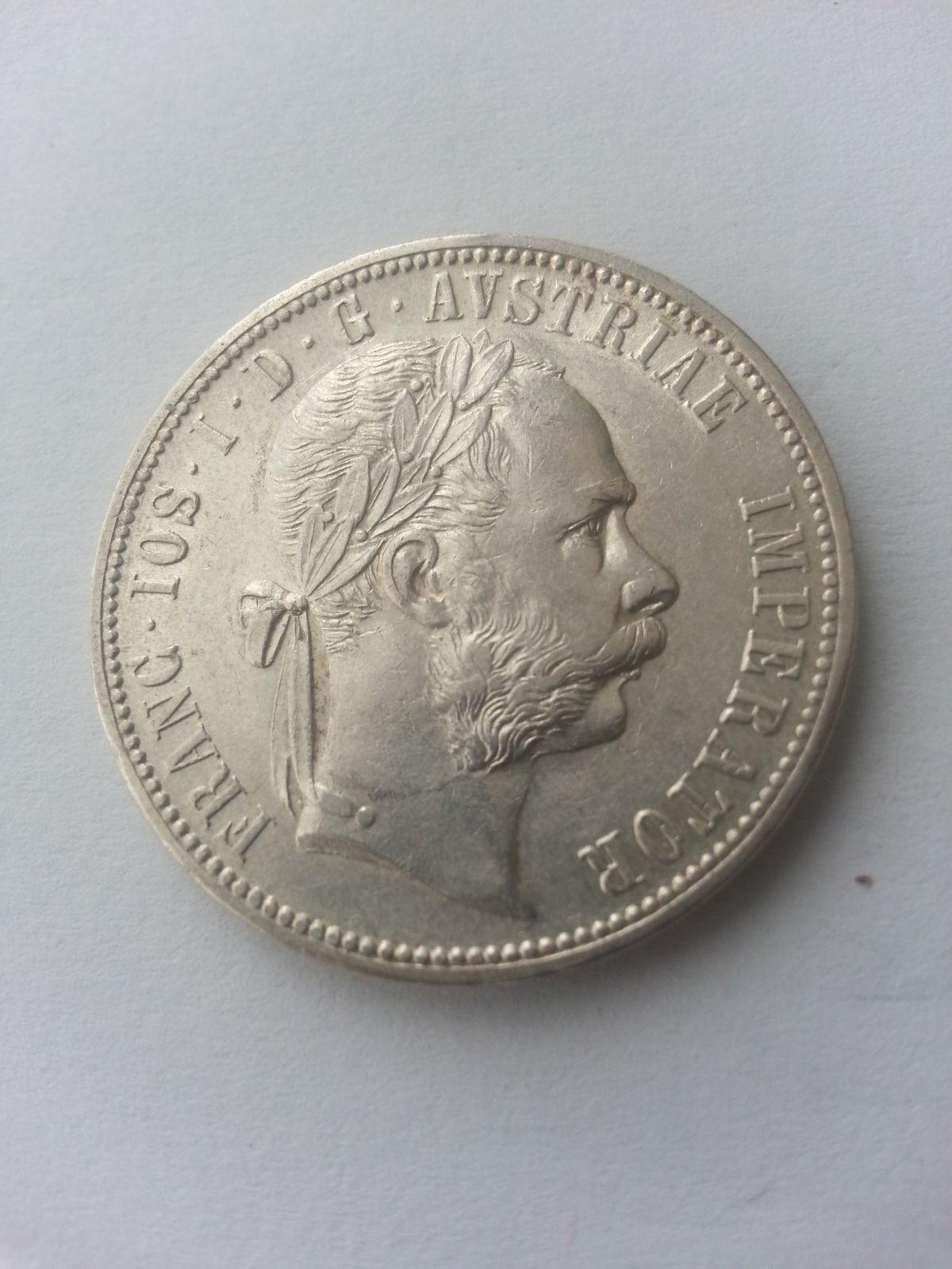 1 Fl., 1876, Rakousko, STAV!