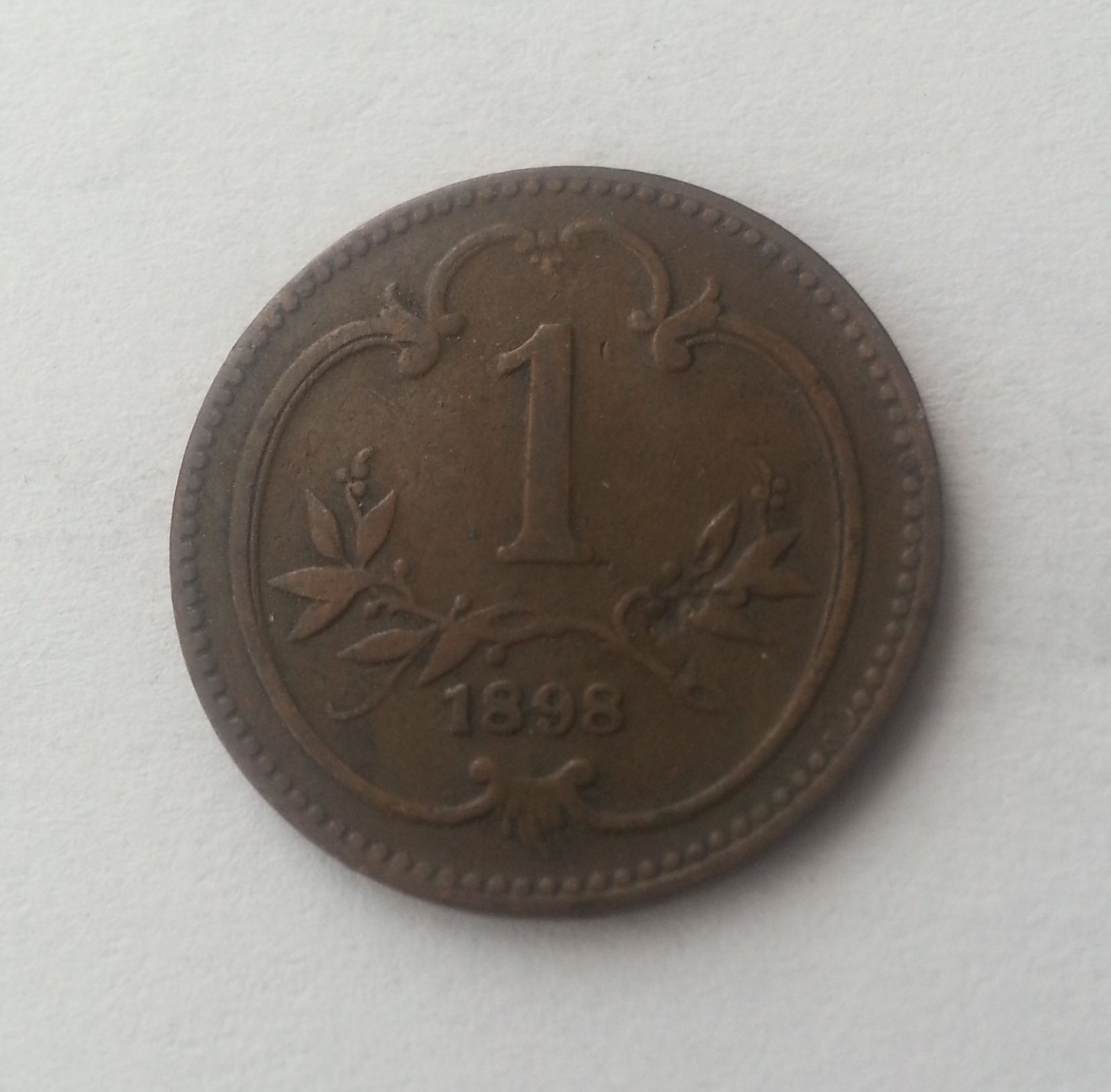 1 Haléř, 1898, Rakousko