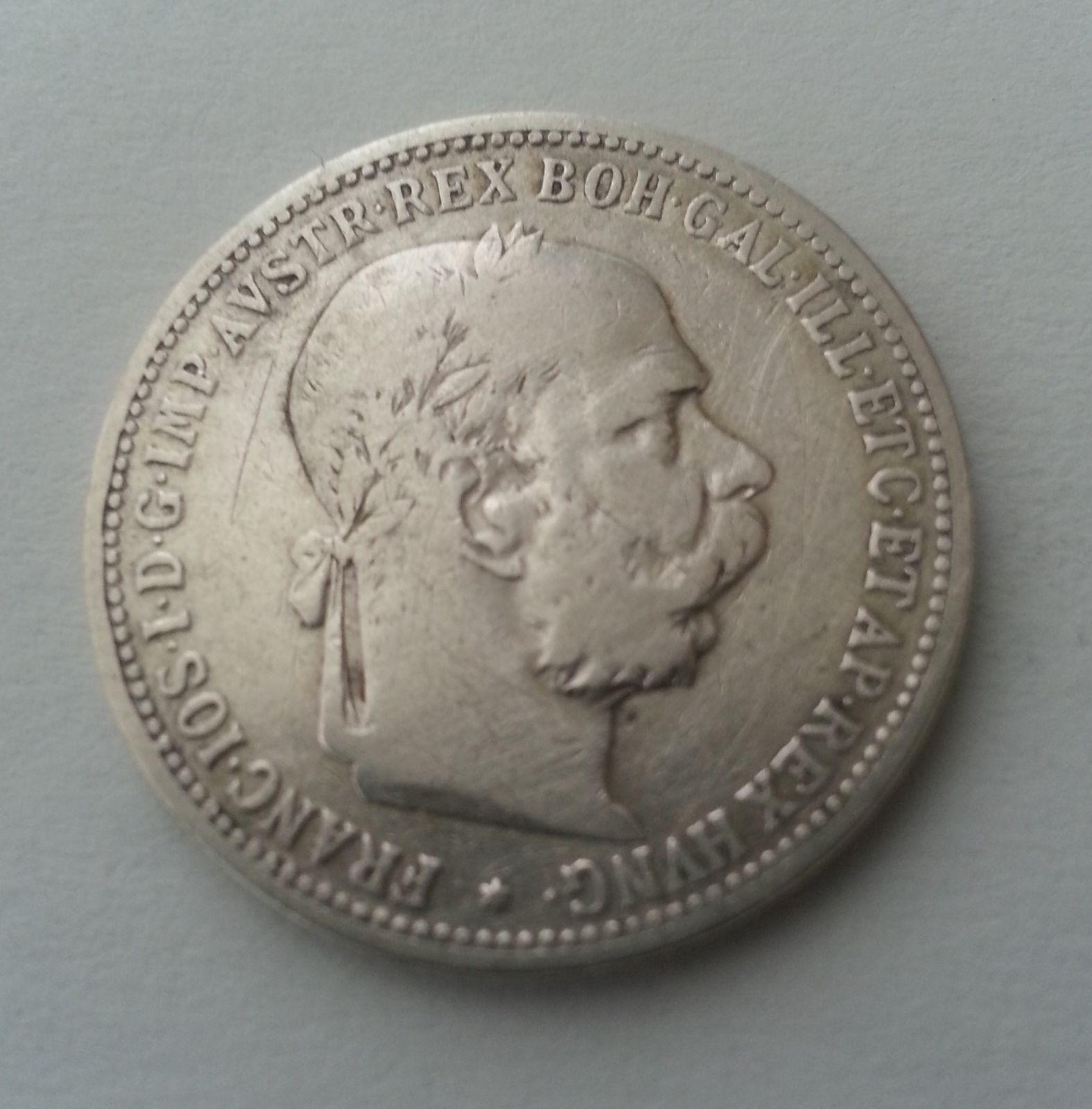 1 Koruna, 1893, Rakousko
