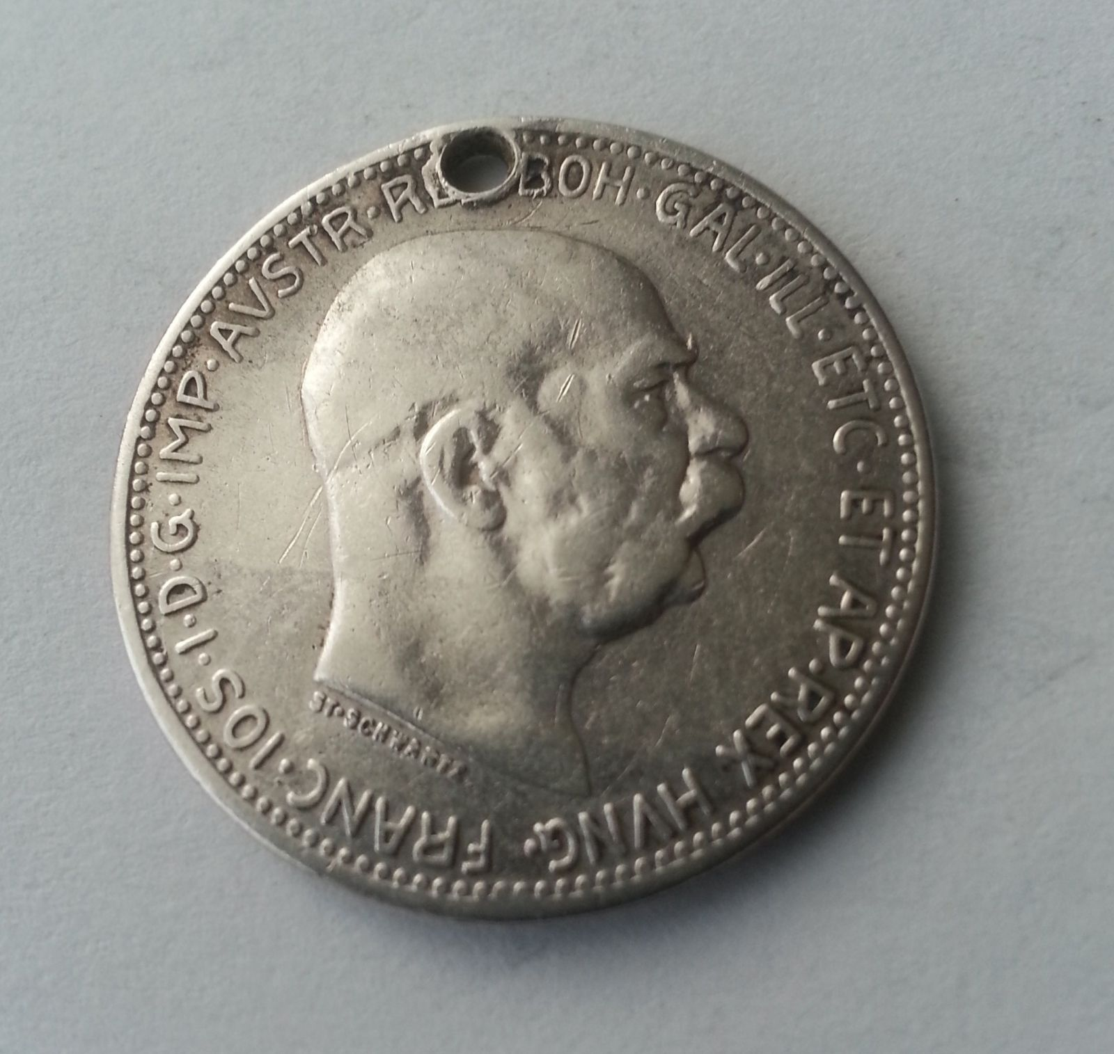 1 Koruna, 1915, Rakousko (dirka)