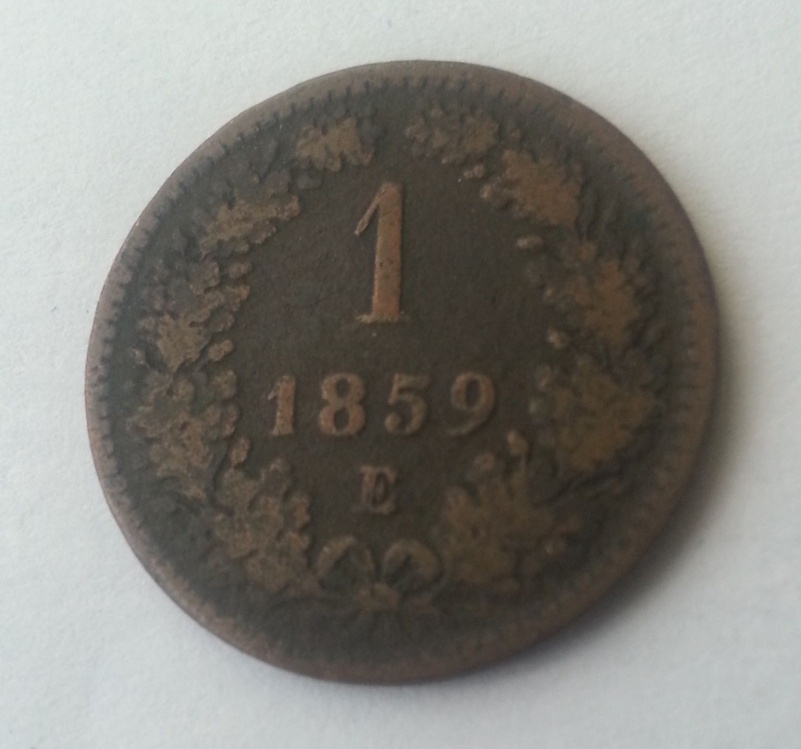 1 Krejcar, 1859, E, Rakousko