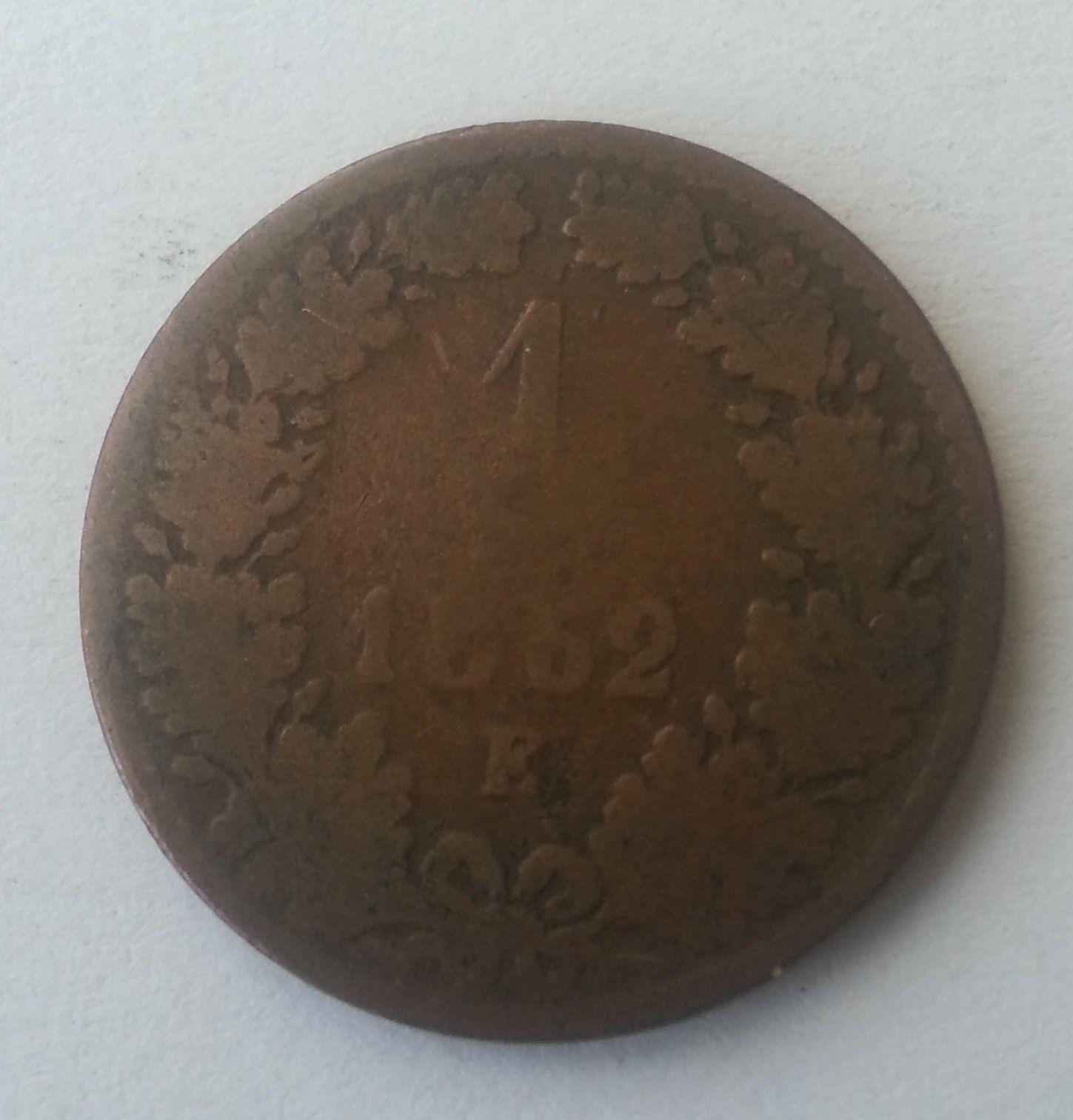 1 Krejcar, 1862, E, Rakousko