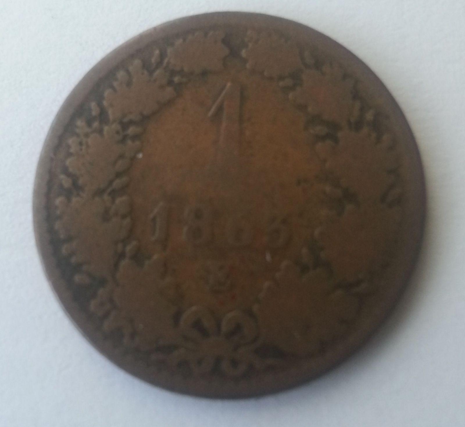 1 Krejcar, 1863, E, Rakousko