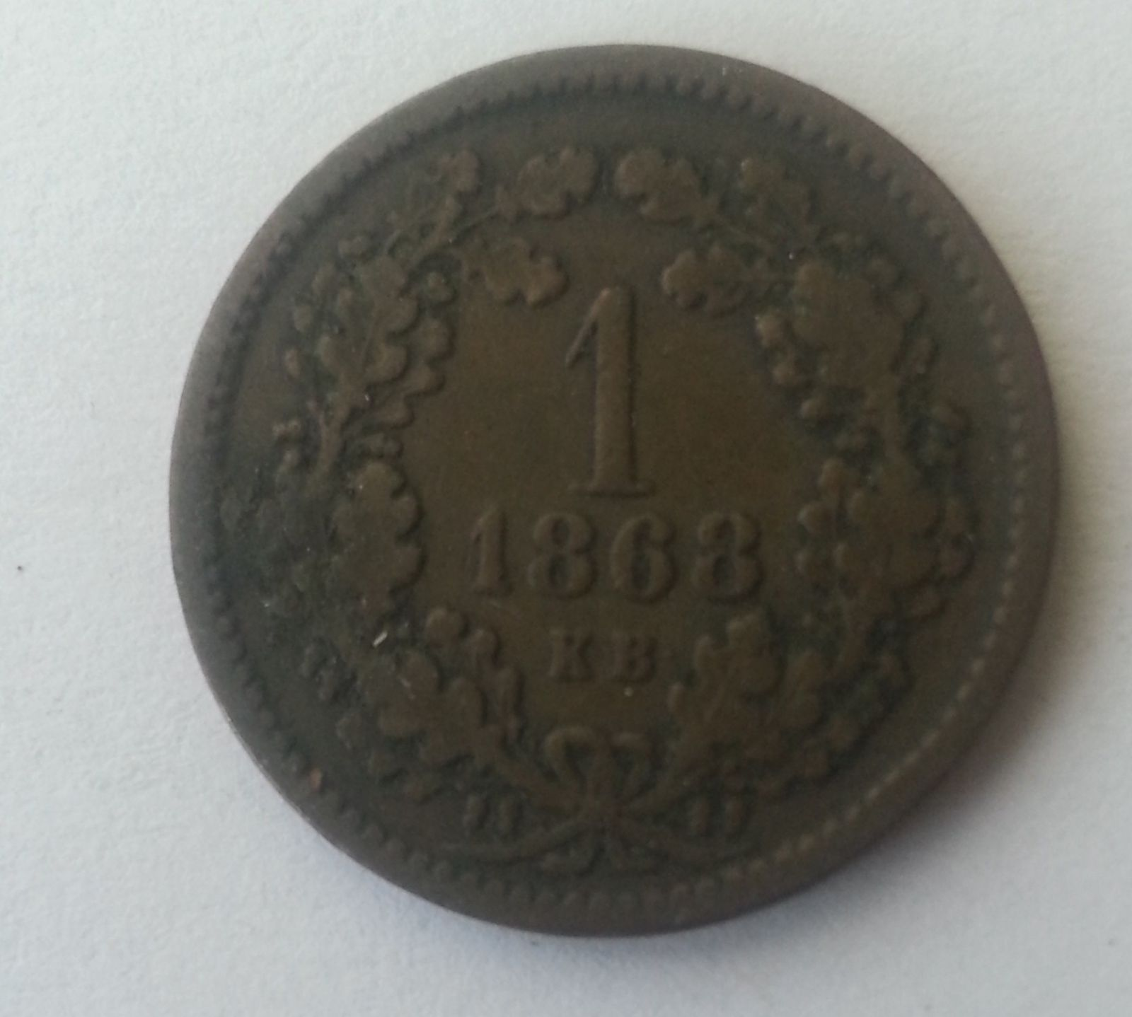 1 Krejcar, 1868, KB, Uhry