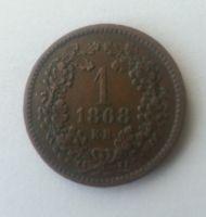 1 Krejcar, 1868, KB, Uhry, STAV!