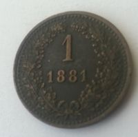 1 Krejcar, 1881, Rakousko