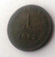 1 Soldo, 1862, B, Uhry
