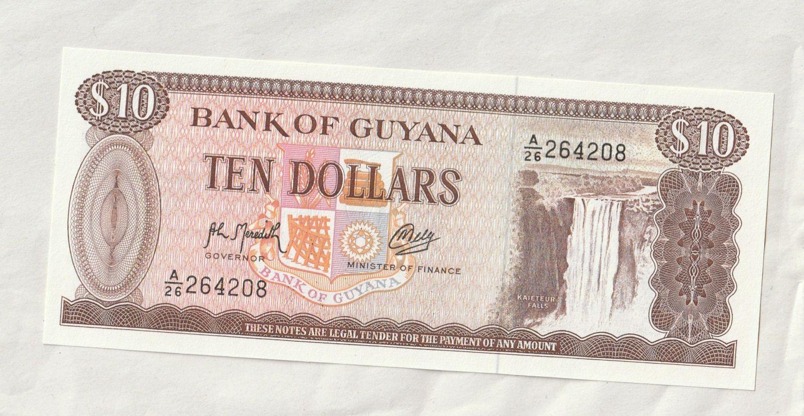 10 Dollar, alumin.továrna, Guyana
