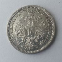 10 Krejcar, 1872, Rakousko, STAV!