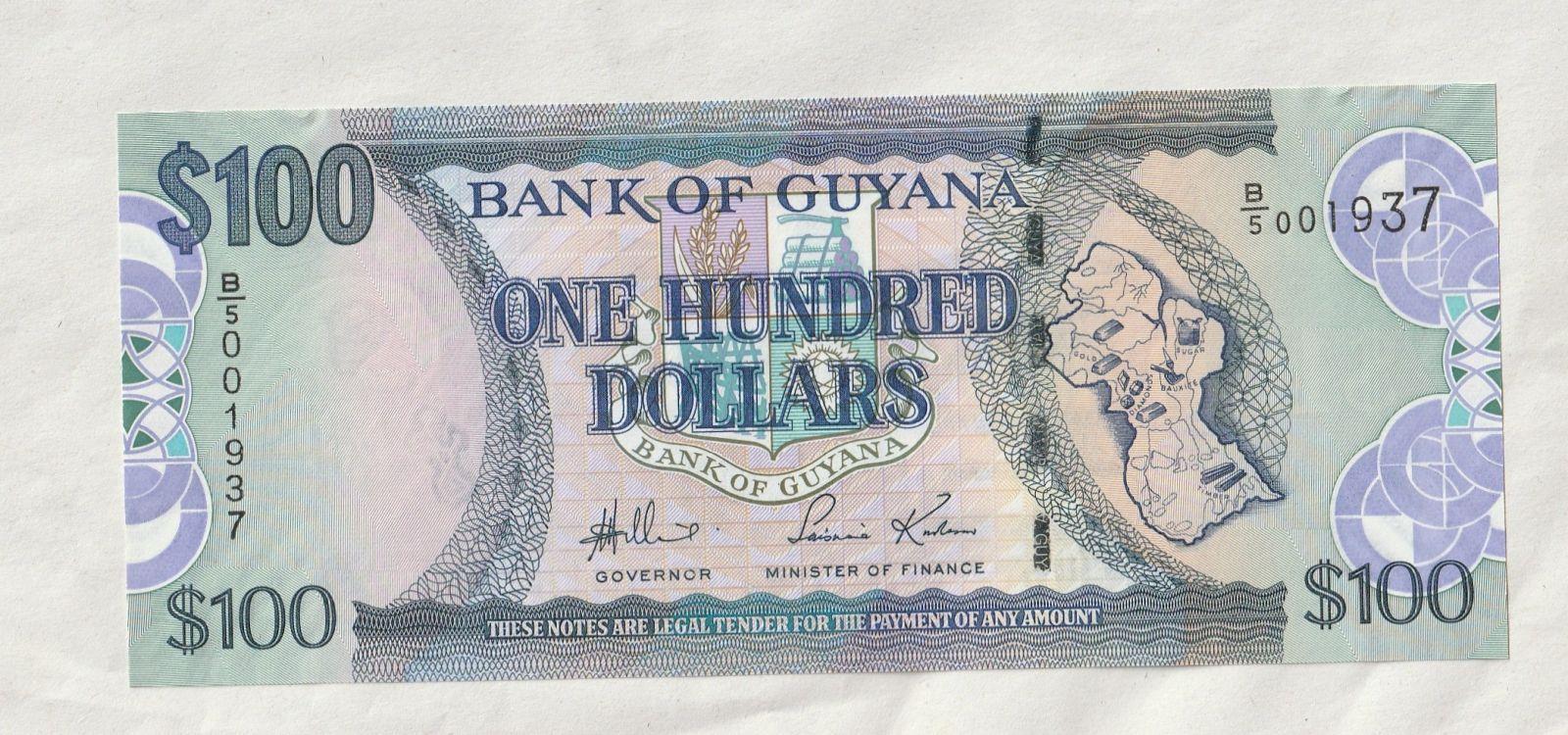 100 Dollar, kostel, Guyana