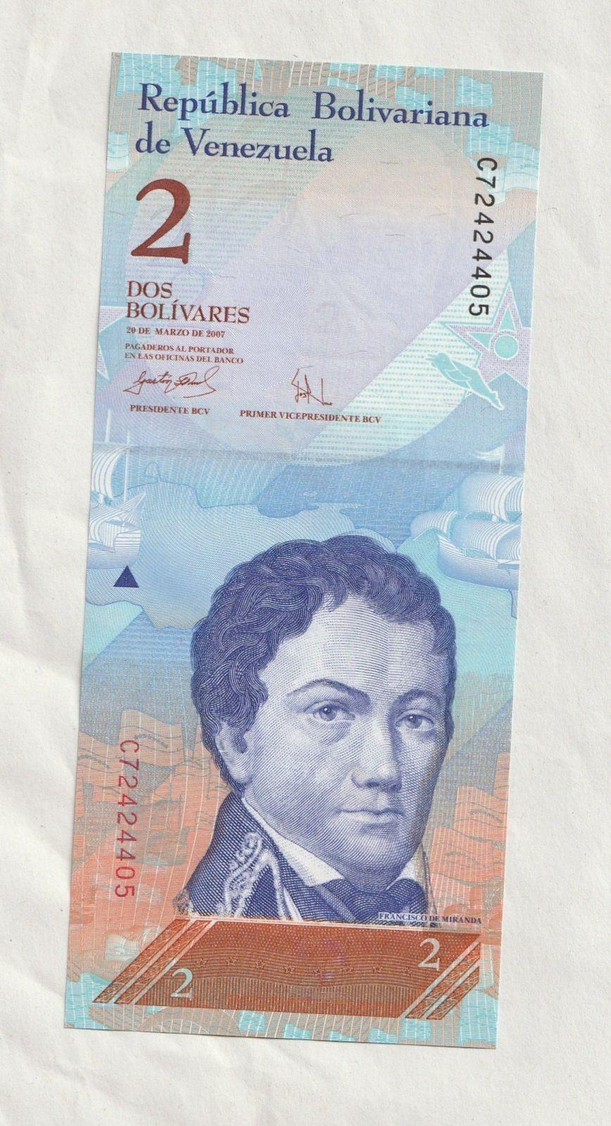 2 Bolivares, 2007, Venezuela