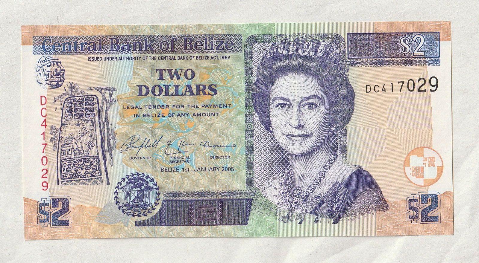 2 Dollar, 2005, Belize