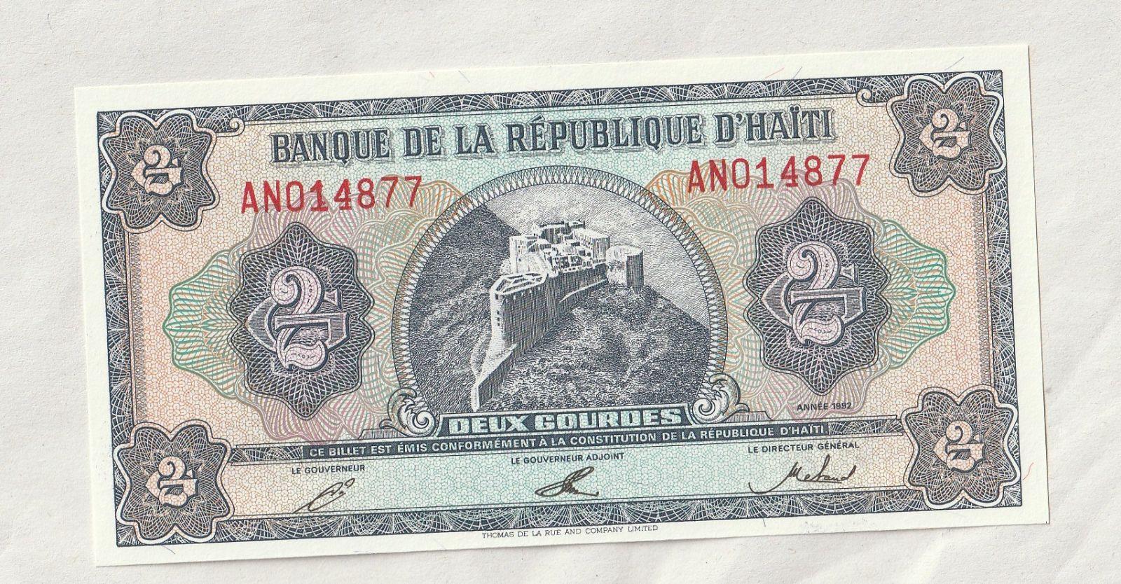 2 Gourdes, 1992, Haiti