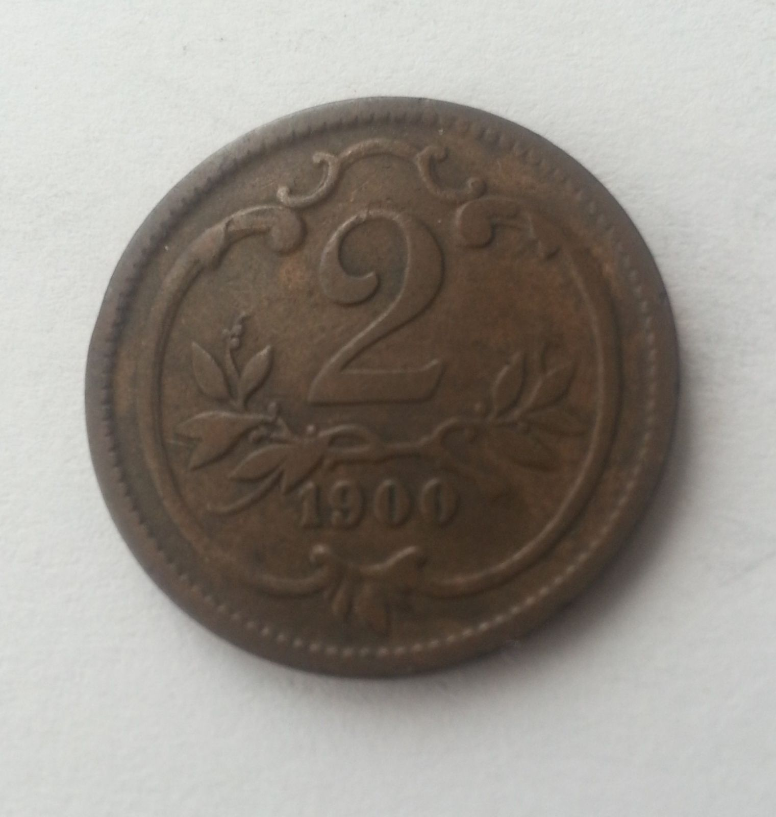 2 Haléř, 1900, Rakousko
