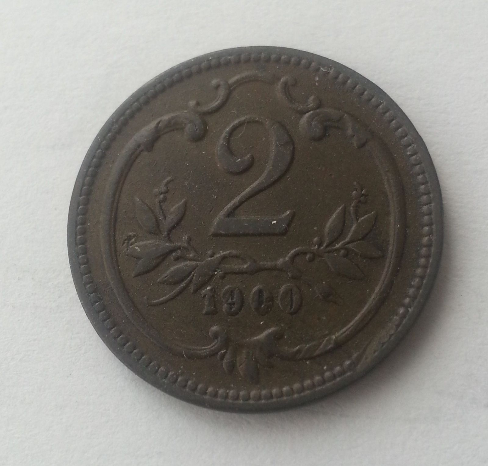 2 Haléř, 1900, Rakousko, STAV!