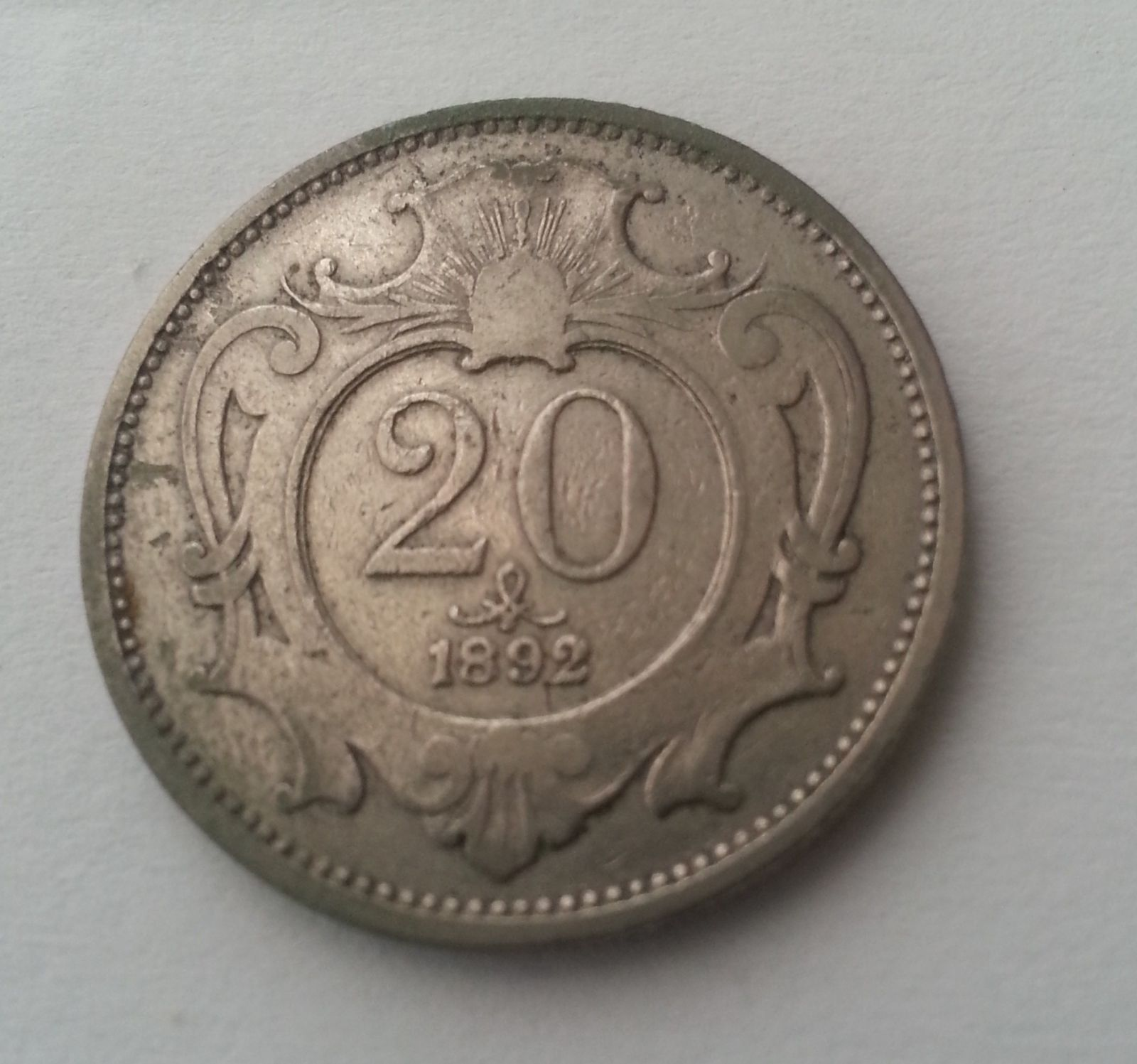 20 Haléř, 1892, Rakousko