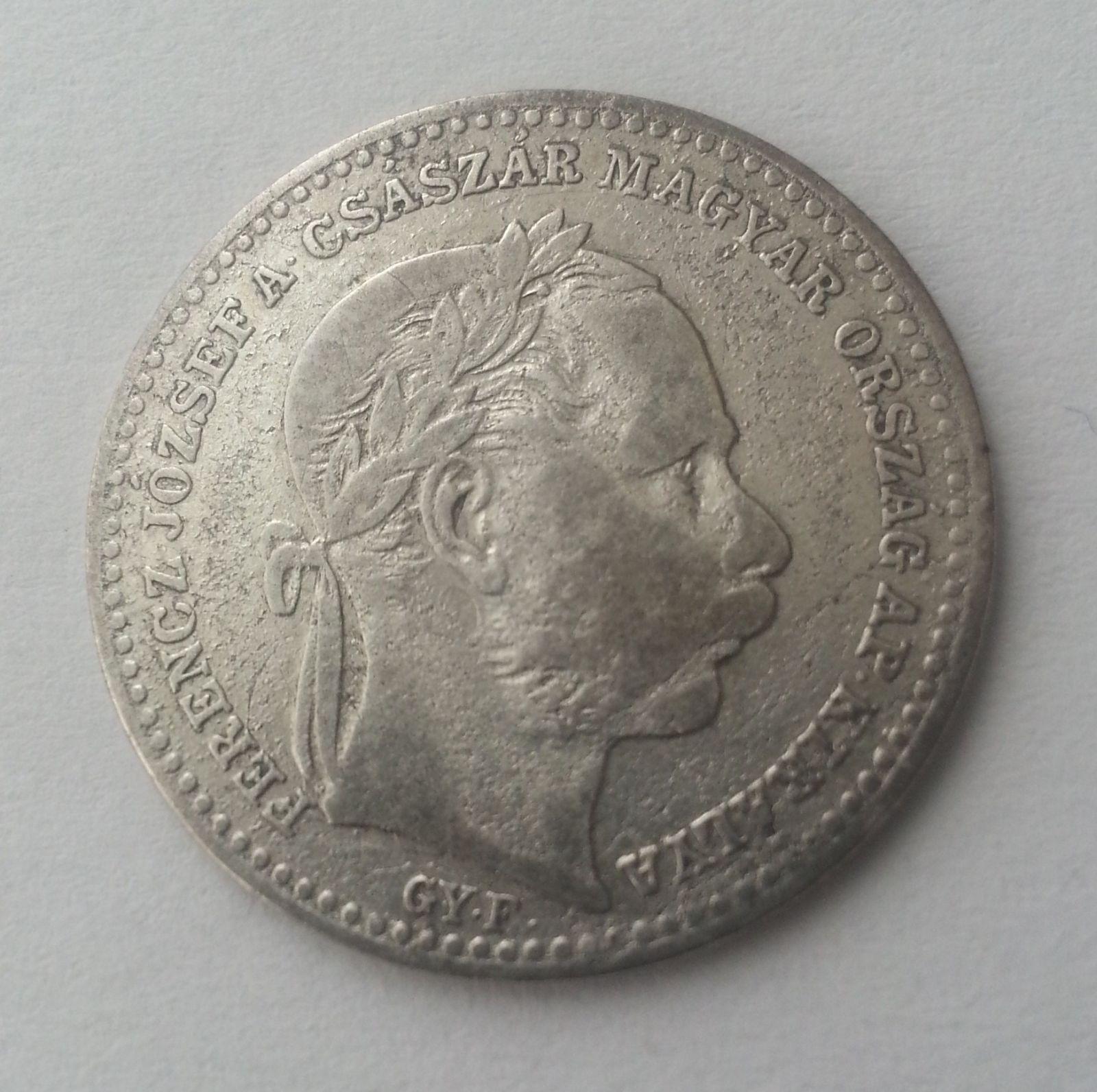 20 Krejcar, 1868, GYF, Uhry (opis Valto Penz)