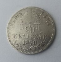 20 Krejcar, 1870, KB, Uhry